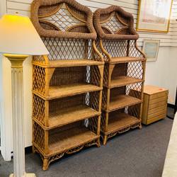 Rattan Bookshelves