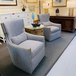 Sleek High Back Swivel Chairs