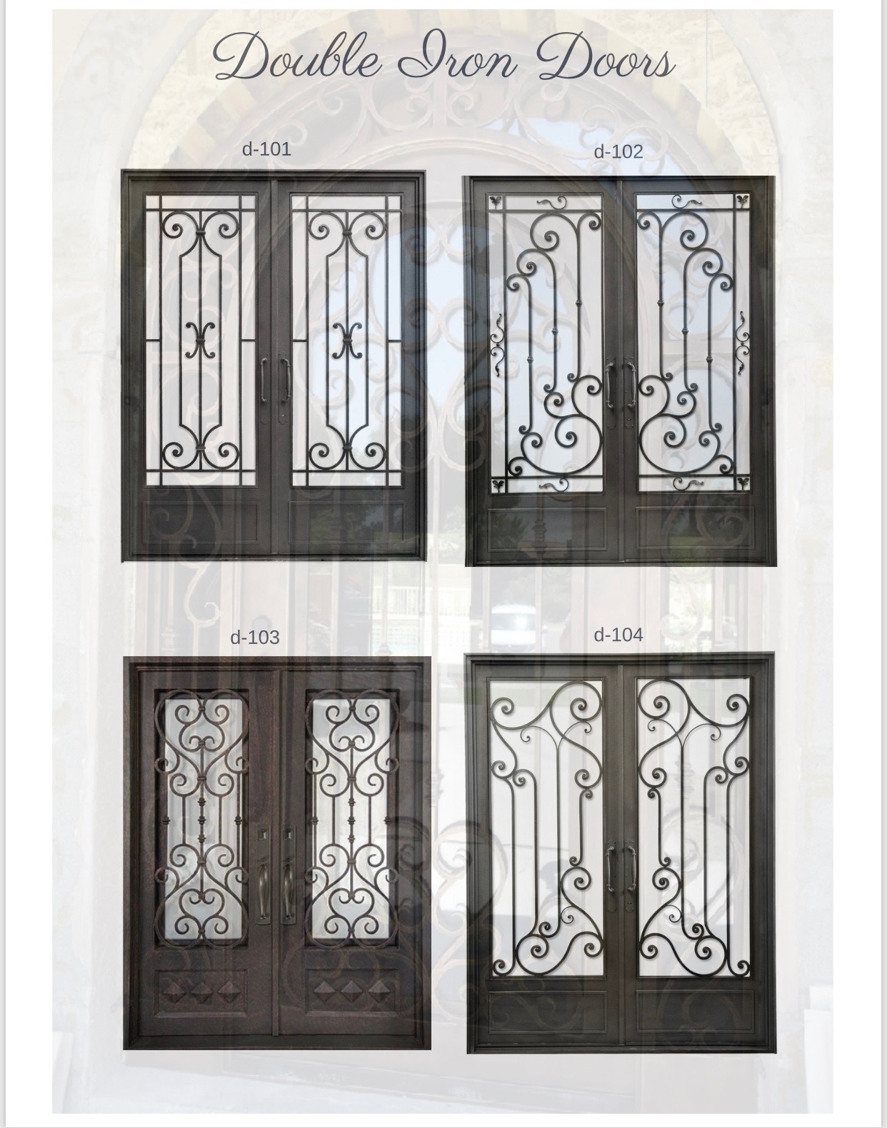 Online Catalog | SA Custom Iron Door & Fence