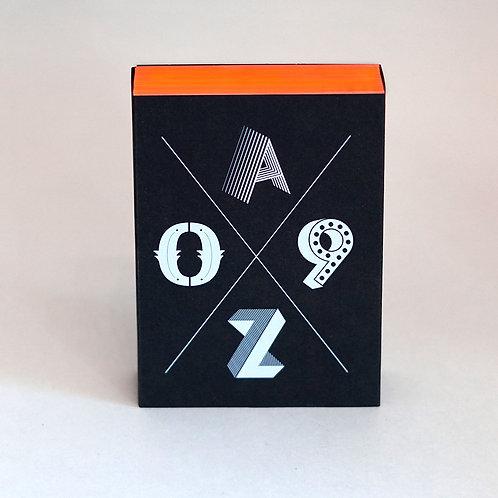 BOOM – Postkartenset A–Z/0–9  |  Special Edition neon