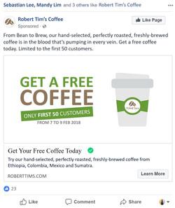 Facebook Marketing Campaign 1