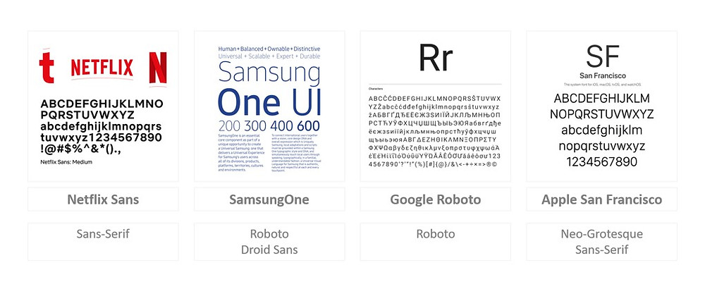 Brands like Netflix, Samsung, Google and Apple have created their own typefaces.