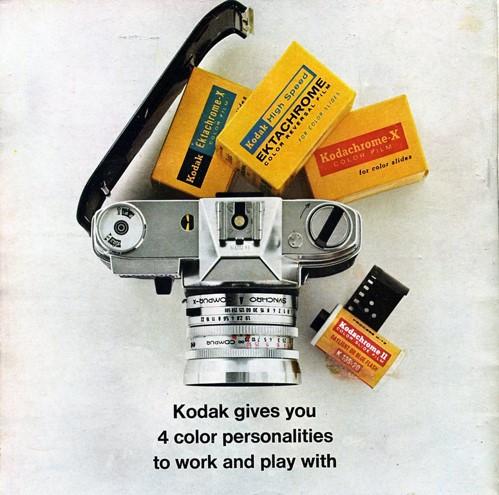 Kodak advertisement, market leaders in digital cameras and color films.