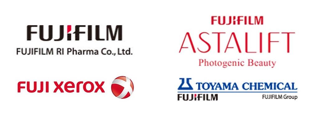 Fujifilm's diversification strategy. Toyoma Chemical, FUJITAC, Fujifilm RI Pharma, Fuji Xerox, Astalift.
