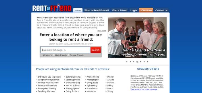 RendAFriend.com provides specialized companion rental services.