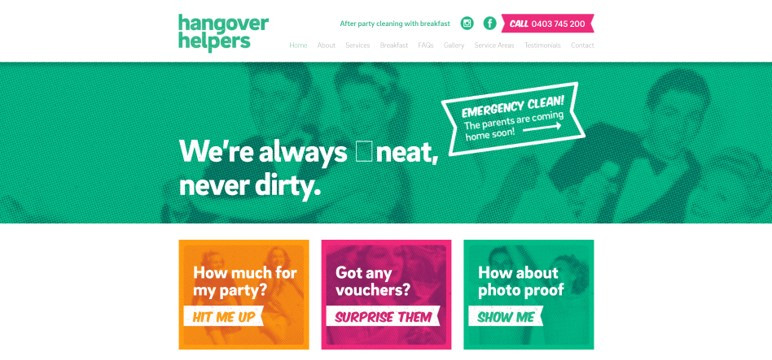 Need to clean up after a handover? Hangover Helpers provides a niche service that helps you clean up after a party.