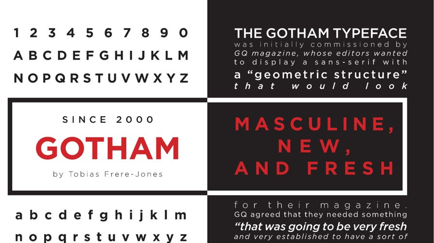 Many brands use fonts like Gotham in their marketing materials. Using fonts like Gotham, brands need to pay for licensing fees. For global brands, having their own font type can help save on licensing fees.