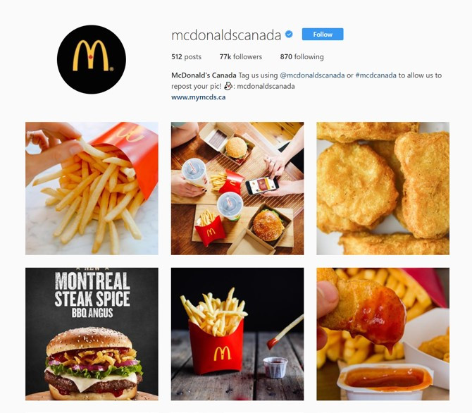 McDonald's Canada used shutterstock custom to create content for their Instagram story. Reaching 14% of their target audience organically with a 21% churn rate.
