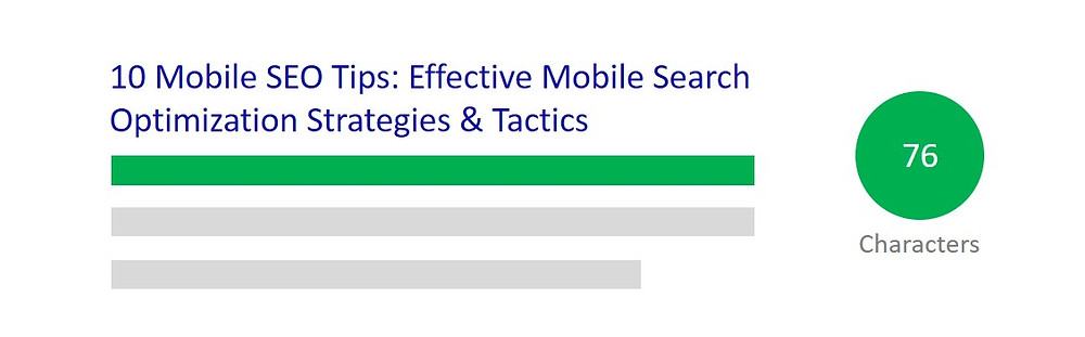 Mobile SEO: Title & Meta Description Tags Character Limit For Mobile Search.