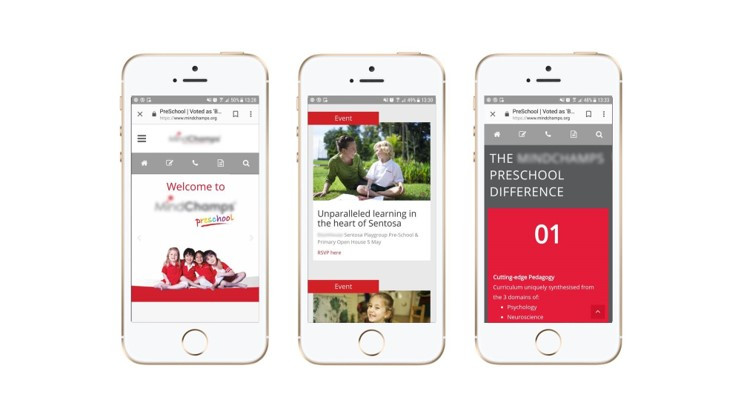 Examples of mobile webpages that are mobile optimized.