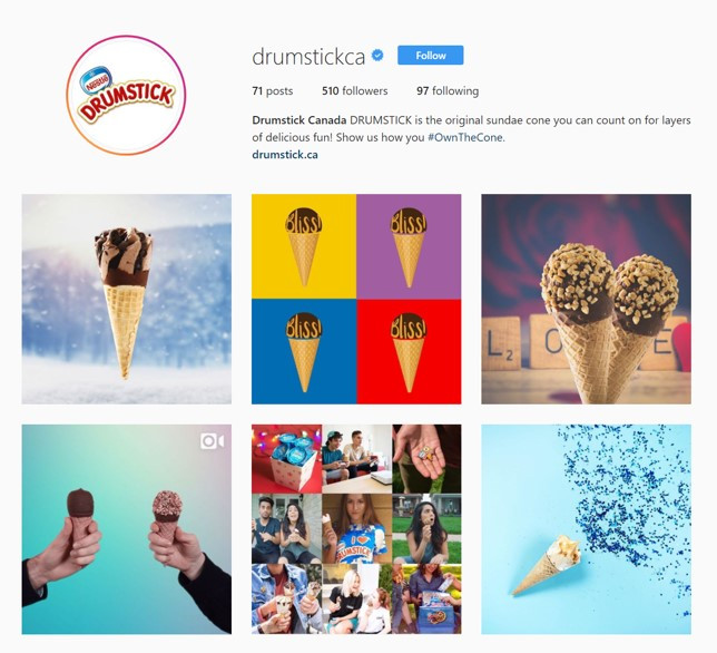 Drumstick Canada used shutterstock custom for social media marketing and generated 21 million impressions and 75% of impressions reach their target audience.