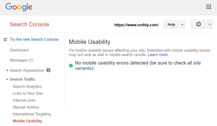 Google Search Console Mobile Usability check helps you identify if mobile users are having trouble viewing your mobile website.