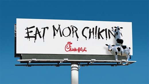 Poor copywriting can be used as a marketing strategy. Chick-fil-A misspells words in their advertisements on purpose to stand out from their competition.