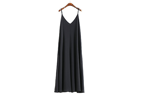 You Don't Know Me Pocket Maxi Dress
