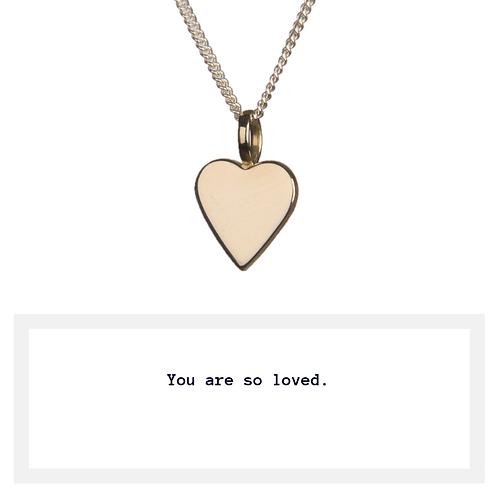 Golden Heart Love Necklace