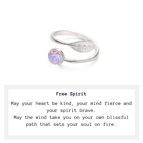 Free Spirit Fire Opal Glass Ring