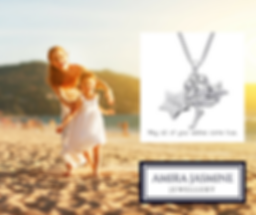 Mindful meaningful children's jewellery. Amira Jasmine inspirational jewellery. Sterling silver children's jewellery with inspiring messages.