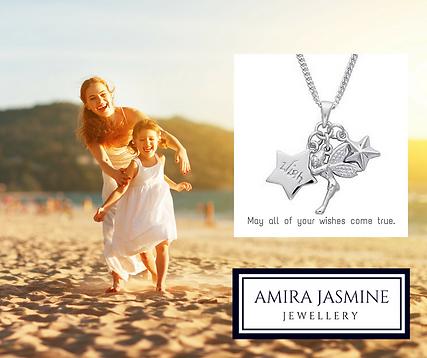 Mindful meaningful children's jewellery. Amira Jasmine inspirational jewellery. Sterling silver children's jewellery with inspiring messages.