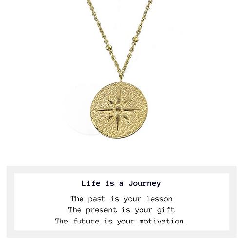 Golden Compass Necklace