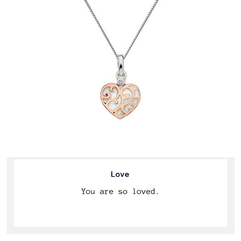 Rose Heart Love Necklace