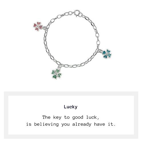 Child's Lucky Four Leaf Clover Bracelet