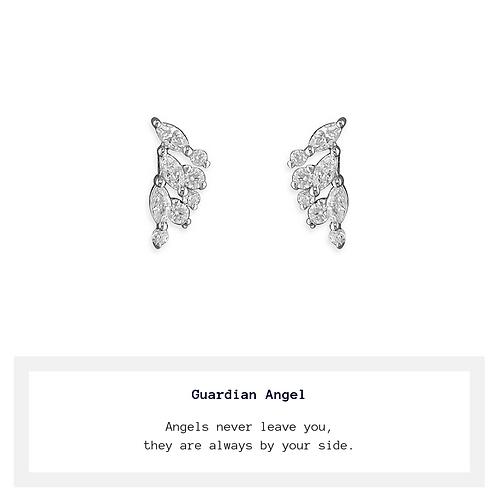 Angel Wing CZ Stud Earrings