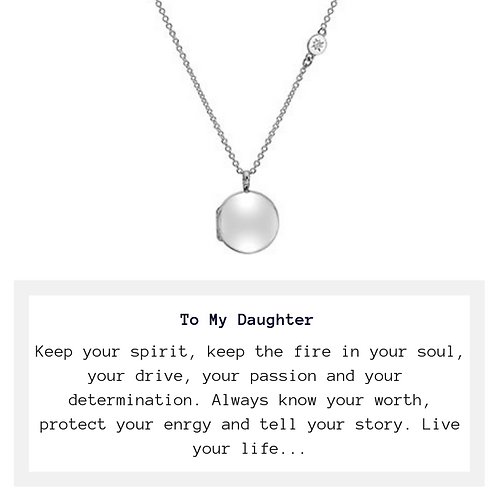To My Daughter Locket