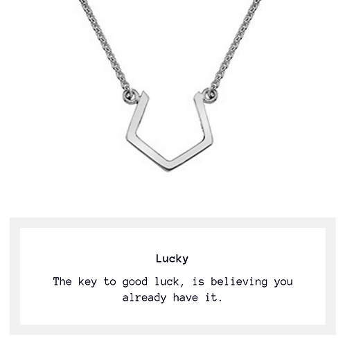I Make My Own Luck - Necklace