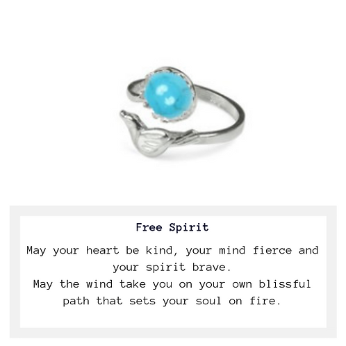 Free Spirit Turquoise Bird Ring