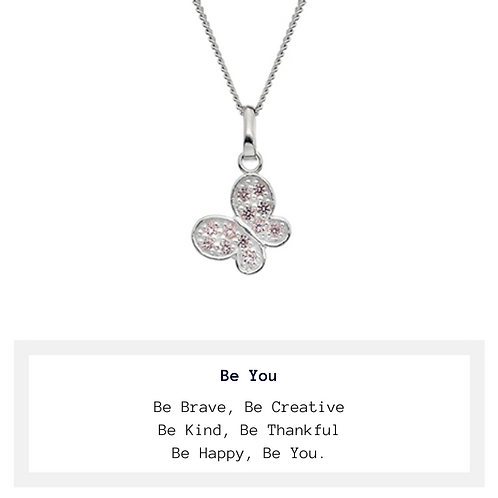 Children's Be You Sparkle Butterfly Necklace