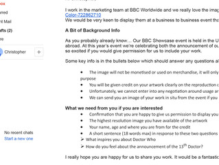 So... BBC emailed me...