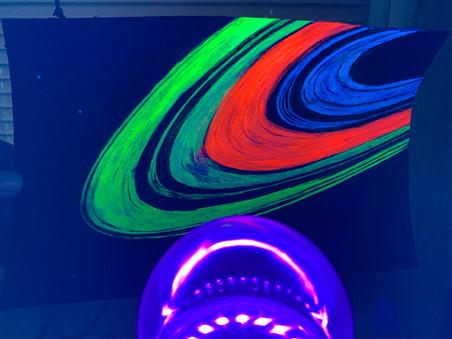Saturn's Rings (Voyager) (UV Light)