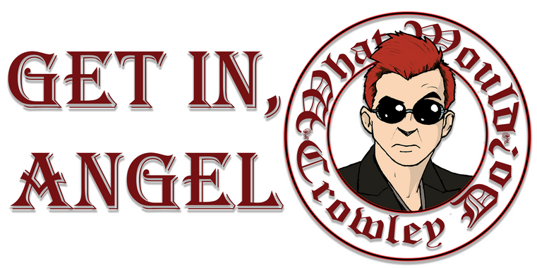 Get In, Angel (Crowley Bumper Sticker)