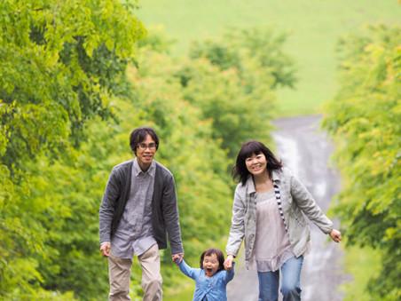 美瑛で家族写真