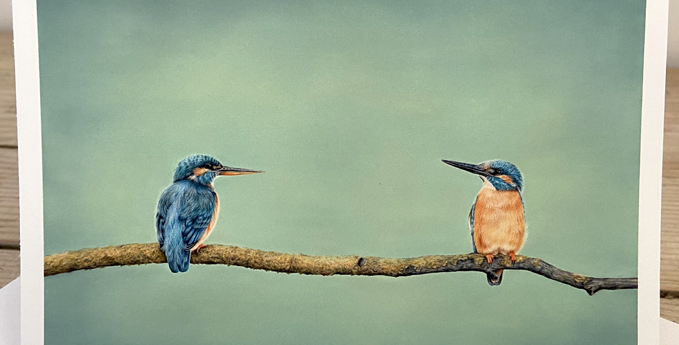 'Queen and Kingfisher' Greeting Card