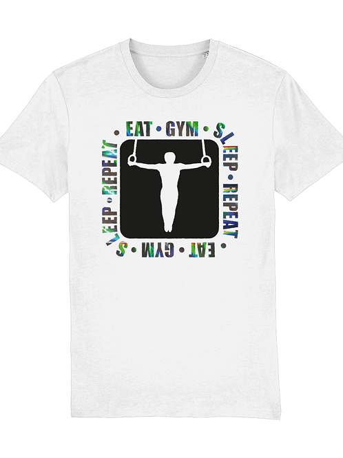 Eat, Gym, Sleep, Repeat Rings Holographic - Adults