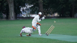Dom Oliver almost run out by Adnan Ali f