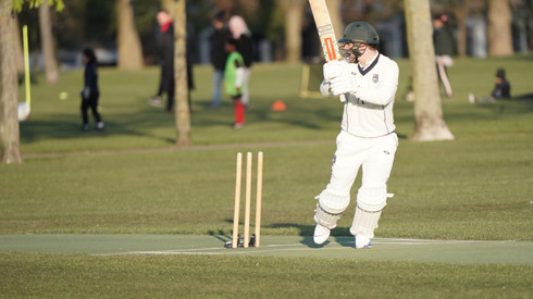 Ross Legg hitting the first of three fours for the Presidents