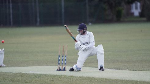 Tom Taylor is bowled attempting a scoop