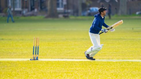 Mahran Rahman striking the first of 3 sixes