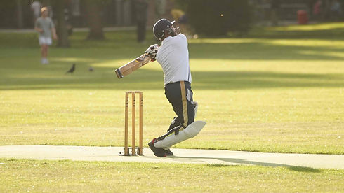 Tigers captain Muhibur Jony hitting out.
