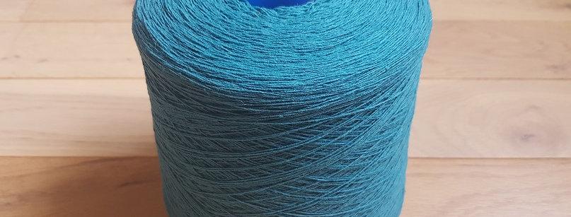 Fil cardé bleu à tisser