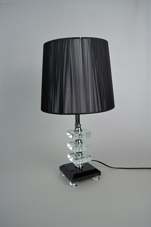 Crystal Look with black lamp sheer Table lamp