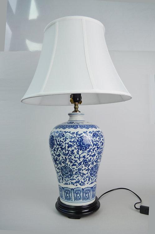 Oriental Blue Ceramic Table Lamp