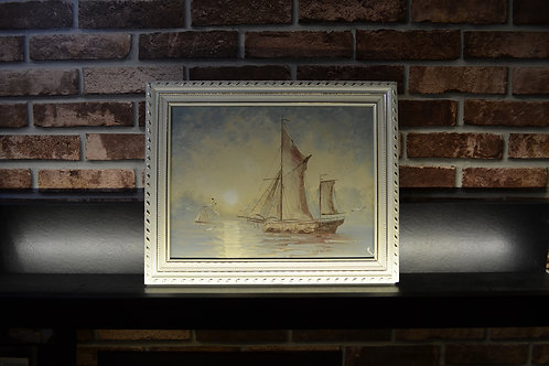 Fortune blue ship with white frame