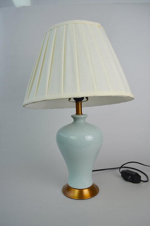 Jade look ceramic table lamp