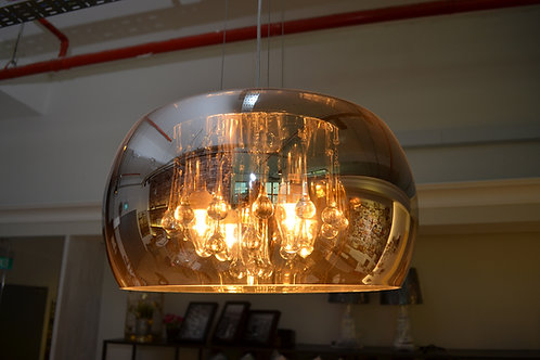Lido Glass Hunging Light-Round
