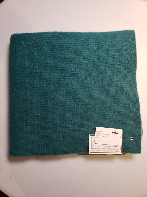 "Alpaca Fabric Felt - Teal - 54""X29"""