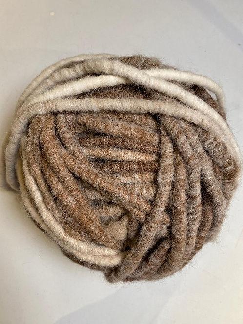 Alpaca Rug Yarn with Wool Overlay - Natural Browns