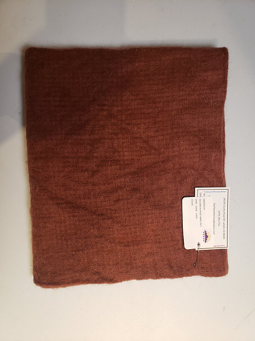 "Alpaca Fabric Felt - Wine 26""X22"""